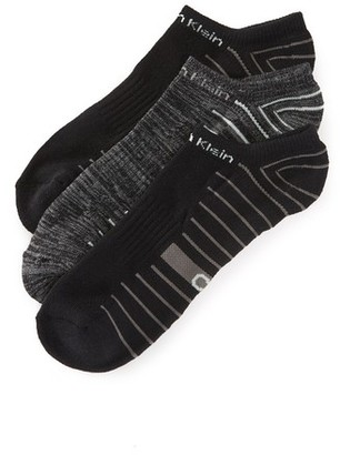 Calvin Klein Underwear 3 Pack Coolpass Low Cut Socks $18 thestylecure.com