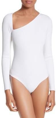 Cushnie et Ochs Vivian Asymmetrical Neck Knit Bodysuit