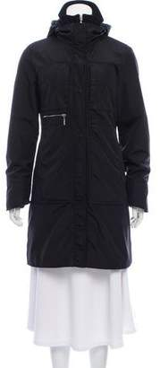 Post Card Hooded Knee-Length Coat