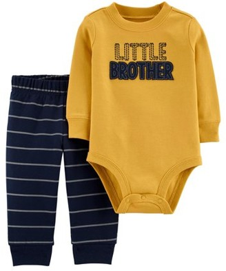 Carter's Child Of Mine By Child of Mine by Long Sleeve Bodysuit and Pant Outfit Set, 2 pc set (Baby Boys)