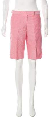 Thom Browne Mid-Rise Knee-Length Shorts
