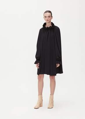MM6 MAISON MARGIELA Long Sleeve Ruched Neck Dress