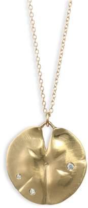 Annette Ferdinandsen Diamond & 14K Yellow Gold Pendant Necklace