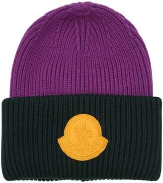 Moncler 2 1952 Big Logo Beanie Hat