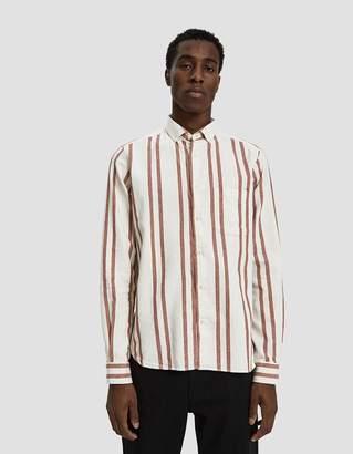 YMC Dean Button Down Shirt in Orange