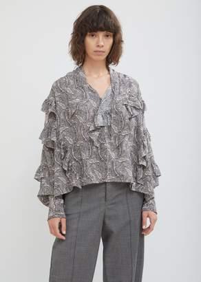 Isabel Marant Hess Paisley Silk Blouse
