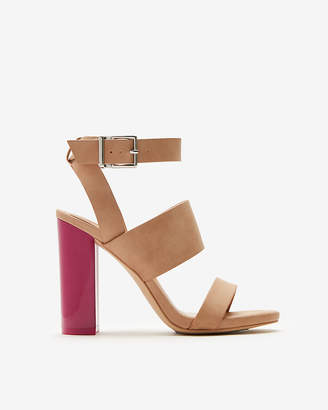 Express Color Block Heel Sandals