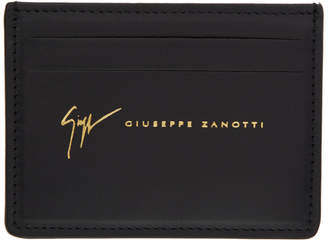 Giuseppe Zanotti Black Leather Logo Card Holder