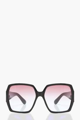 boohoo Ombre Lens Oversized Sunglasses
