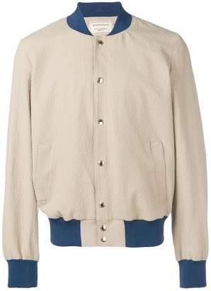 MAISON KITSUNÉ textured bomber jacket