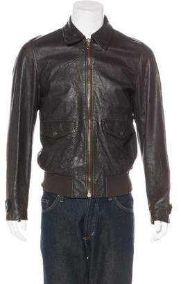 Dolce & Gabbana Collared Leather Jacket