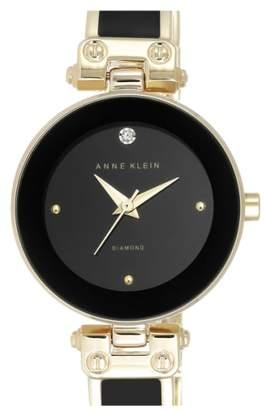 Anne Klein Diamond Marker Bangle Watch, 28mm