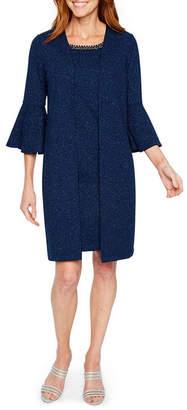Scarlett 3/4 Bell Sleeve Beaded Jacket Dress