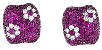 Roberto Coin 18K Ruby & Diamond Fantasia Earrings