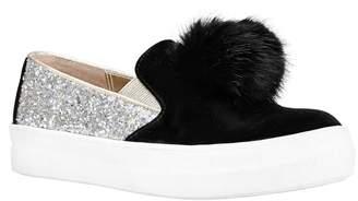 Nina Hannie Glitter Pom Slip-On Sneaker