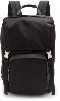 Prada Logo-appliqué backpack