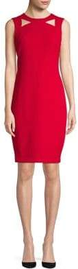 Calvin Klein Sleeveless Cut-Out Sheath Dress