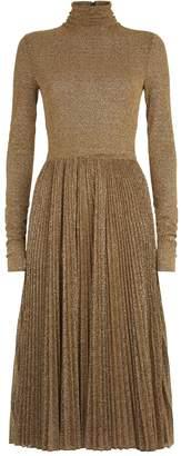 Philosophy di Lorenzo Serafini Metallic Turtleneck Dress