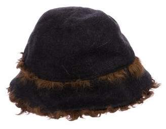 5f68c85314b Pre-Owned at TheRealReal · Dolce   Gabbana Shearling-Trimmed Wool Hat w   Tags