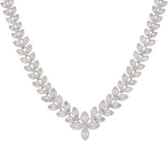 """Diamonique 17"""" Graduated Vine Design Necklace Sterling Silver"""