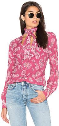 MAJORELLE Attache Blouse in Pink $158 thestylecure.com