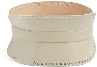 Alexander McQueen Grommet-embellished leather waist belt