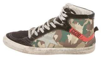Golden Goose 2.12 Distressed Camouflage Sneakers
