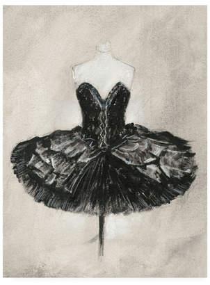 "Ethan Harper Black Ballet Dress I Canvas Art - 19.5"" x 26"""