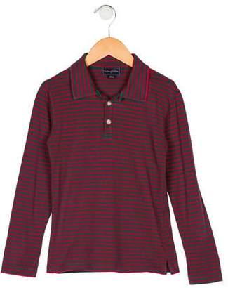 Oscar de la Renta Boys' Striped Collar Shirt