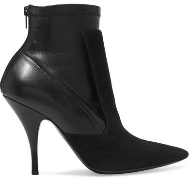 Givenchy - Ankle Boots In Black Suede And Stretch-leather