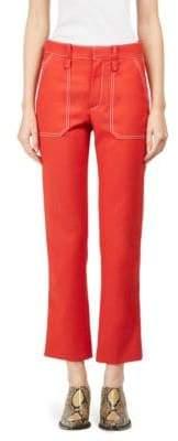 Chloé Wool Stitch Ankle Pants