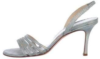 Jimmy Choo Holographic Slingback Sandals