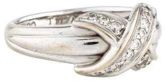 Tiffany & Co. 18K Diamond Signature X Ring