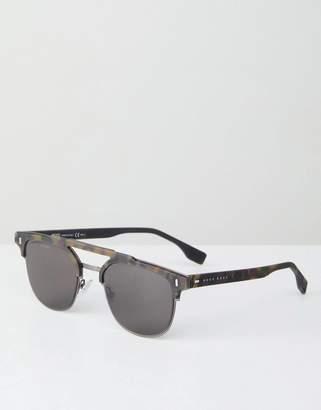 HUGO BOSS Boss By BOSS retro sunglasses in tort