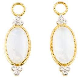 Jude Frances 18K Diamond-Accented Moonstone Provence Earring Enhancers