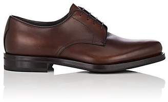 Prada Men's Plain-Toe Leather Bluchers