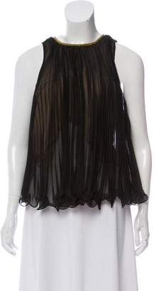 3.1 Phillip Lim Accordion Pleated Sleeveless Top