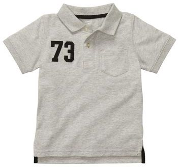 Carter's Short-Sleeve Graphic Pocket Polo