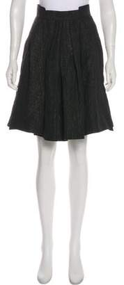 Zac Posen Jacquard Knee-Length Skirt