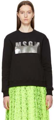MSGM Black Stamped Logo Sweatshirt