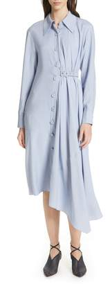 Tibi Asymmetrical Chambray Shirtdress