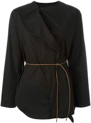 Fabiana Filippi belted wrap shirt
