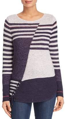 d34b2e7c8d Nic+Zoe Composition Lace-Up Sweater
