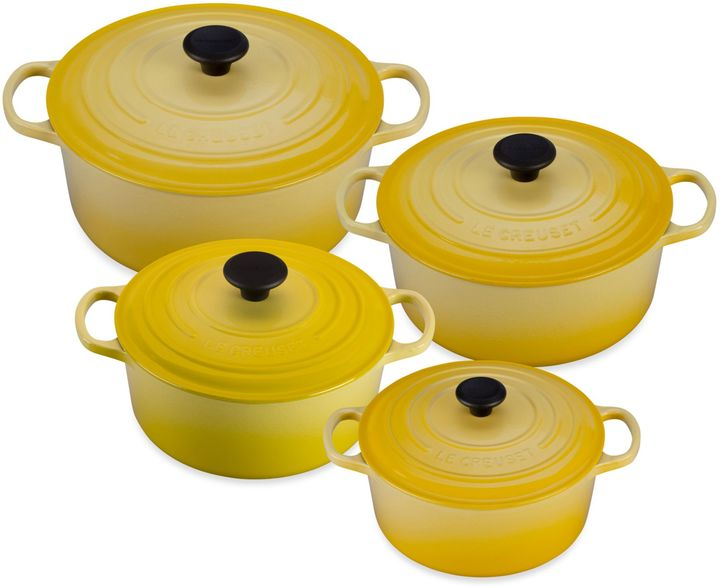 Le Creuset Signature Round French Ovens in Soleil