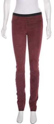 Helmut Lang Suede Skinny Pants