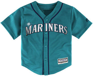 Majestic Mlb Seattle Mariner Replica Cool Base Jersey. Little Boys (4-7)
