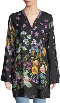 Johnny Was Lentino Floral-Print Tunic