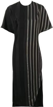 Esteban Cortazar striped midi dress