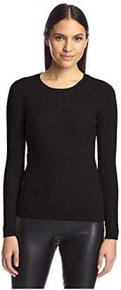 Society New York Women's Cable Crew Neck Sweater