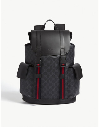 Gucci GG Supreme and leather backpack